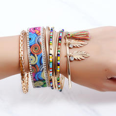 Unique Alloy Rhinestones With Rhinestone Ladies' Fashion Bracelets (Set of 8)