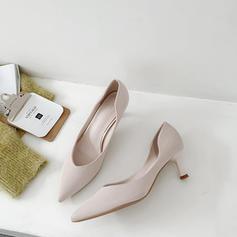 Kvinder Microfiber Læder Stiletto Hæl Pumps sko