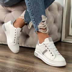 De mujer PU Tacón plano Planos Encaje Zapatillas con Cordones zapatos