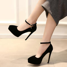 Women's Suede Stiletto Heel Sandals Platform shoes