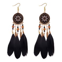 Unique Alloy Feather Women's Earrings