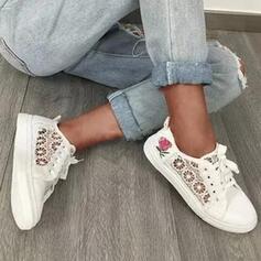Kvinder Klud Flad Hæl Fladsko Round Toe espadrille med Applikation Udhul Elastik sko