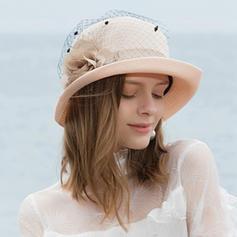 Señoras' Simple/Fantasía poliéster con Tul Sombreros Playa / Sol