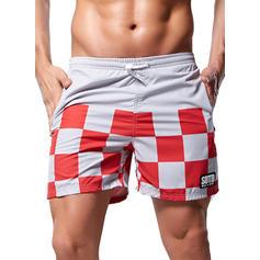 Men's Grid Swim Trunks