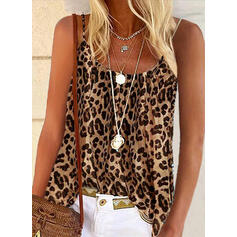 leopardi Spagettiolkaimet Hihaton T-paidat