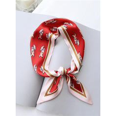 Gestreept/Retro /Wijnoogst lichtgewicht/mode Zijden sjaal