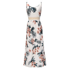 Lace/Print/Floral Sleeveless A-line Casual/Vacation Maxi Dresses