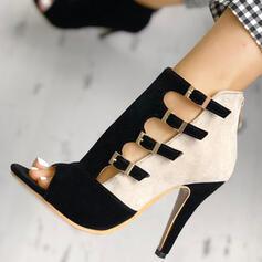 Жіночі ПУ Шпилька взуття на короткій шпильці з Блискавка взуття