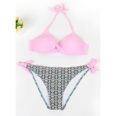 Underwire Low Waist Halter Sexy Plus Size Bikinis Swimsuits