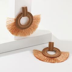 Bohème Conception de glands Alliage String coton avec Glands Boucles d'oreilles 2 PCS