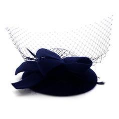 Damer' Vackra Och Ull med Tyll Basker Hat