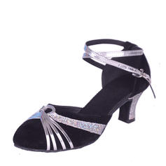 Women's Ballroom Sandals Suede With Hollow-out Latin