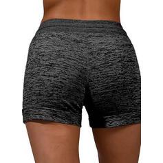 Impresión Casual Deportivo cordraystring Pantalones Pantalones cortos