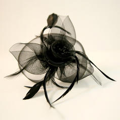 Dames Mooi Feather/Netto garen Fascinators
