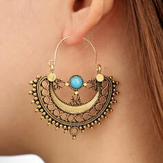 Charming Hottest Alloy With Imitation Jade Earrings