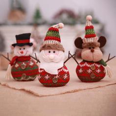 joyeux Noël Bonhomme de neige Renne Père Noël Tissu non tissé Poupée