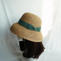 Dames Le plus chaud Paille salée avec Bowknot Chapeau de paille/Chapeaux de plage / soleil