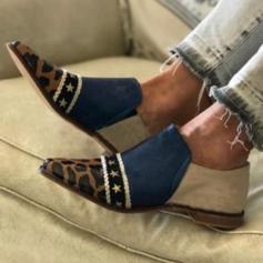 Donna Similpelle Tacco basso Ballerine con Animale Stampa scarpe
