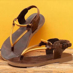 Women's Flat Heel Sandals Flip-Flops With Buckle shoes
