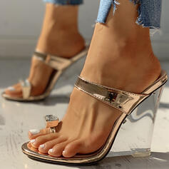 Women's PU Wedge Heel Sandals Wedges Peep Toe Slippers With Others shoes