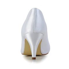 Frauen Satiniert Kegel Absatz Geschlossene Zehe Absatzschuhe