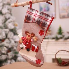 vrolijk kerstfeest Sneeuwman Rendier de kerstman opknoping Cadeau tas Doek Kerstdecoratie kousen