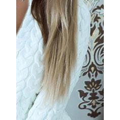 Jednolity Prążkowana dzianina Masywna dzianina Dekolt w kształcie litery V Sukienka sweterkowa
