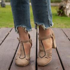 Femmes Similicuir Talon bottier Escarpins Bout fermé avec Boucle Ouvertes chaussures