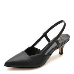 Femmes Similicuir Talon stiletto Sandales Bout fermé Escarpins chaussures