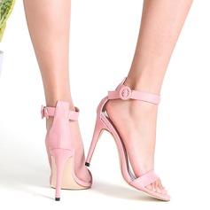 Vrouwen Suede Stiletto Heel Sandalen Pumps Peep Toe met Gesp schoenen