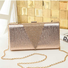 Shining PU Clutches/Satchel