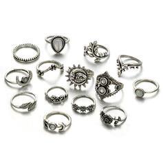 Stijlvol Legering met Imitatie Stenen Sieraden Sets Ringen