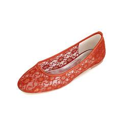 Femmes Dentelle Talon bas Bout fermé Chaussures plates