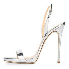 Frauen PU Stöckel Absatz Sandalen Absatzschuhe Peep Toe Slingpumps mit Andere Schuhe