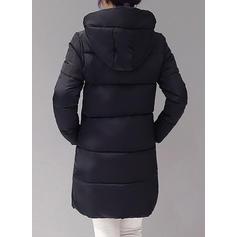 Polyester Long Sleeves Plain Down Coats