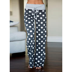 PolkaDot Long Casual Long Sporty Print Pants