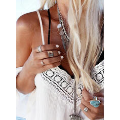 Lace Solid Spaghetti Straps Cold Shoulder Sleeve Flare Sleeve Casual Vacation