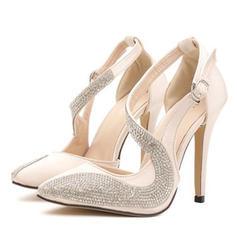 Vrouwen PU Stiletto Heel Pumps Closed Toe met Kralen schoenen