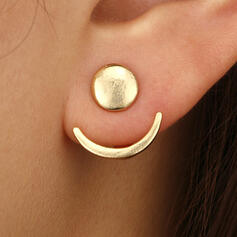 Simple Alloy Earrings (Set of 2)