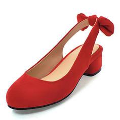 De mujer Ante Tacón bajo Solo correa con Bowknot zapatos