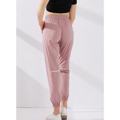 Solid Long Long Sporty Yoga Pants