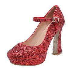 Femmes Pailletes scintillantes Talon bottier Escarpins avec Paillette Boucle chaussures