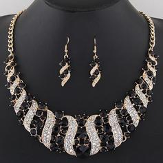 De moda Aleación Diamantes de imitación con Rhinestone Señoras' Sistemas de la joyería