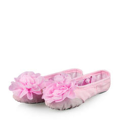 Kids' Ballet Flats Canvas With Flower Ballet