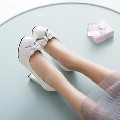 Femmes Similicuir Talon stiletto Escarpins avec Bowknot chaussures