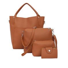 Solid Color Tote Bags/Shoulder Bags/Bag Sets/Wallets & Wristlets
