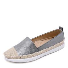 Dla kobiet Skóra ekologiczna Płaski Obcas Plaskie Zakryte Palce Z Plecione Ramiączko obuwie