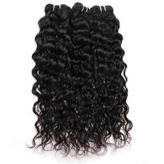 4A Creţ Tip Apă (ud) Păr Natural Păr Natural Ondulat (Vândut la bucată) 100g