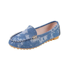 Női PU Lapos sarok Lakások Papucscipő Slip On -Val tépőzáras Szolid szín cipő