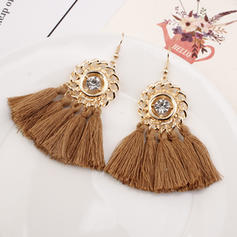 Fashionable Alloy Braided Rope With Tassels Women's Fashion Earrings (Sold in a single piece)